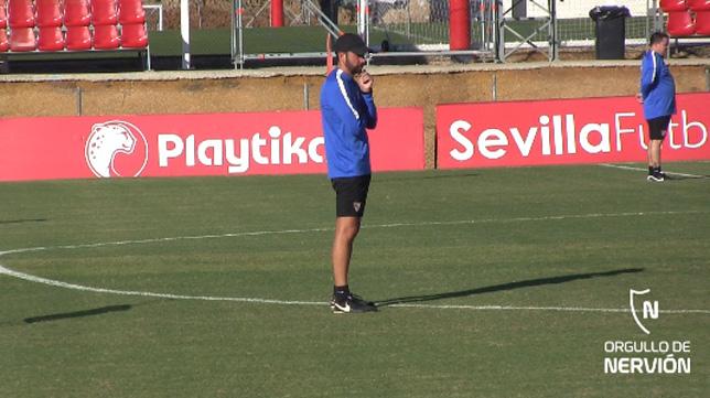 Pablo Machín, en la sesión de este miércoles en la ciudad deportiva