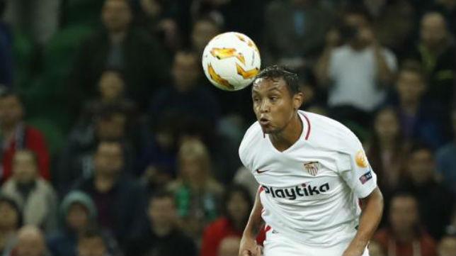 Luis Muriel, en el Krasnodar-Sevilla (AFP)