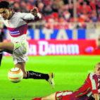 Jesús Navas disputó los dos choques de la eliminatoria europea contra el Lokomotiv de Moscú en 2006