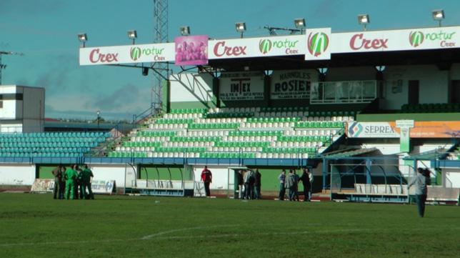 Imagen del estadio Romero Cuerda, que el Sevilla visitará para jugar ante el Villanovense en la Copa del Rey