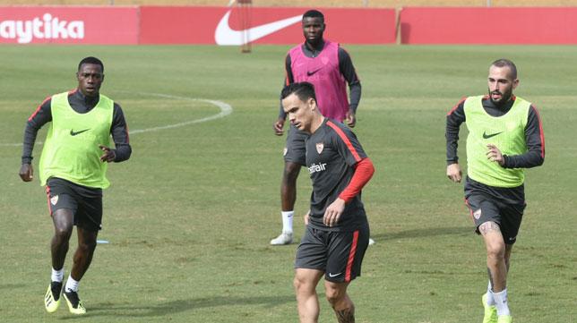 Entrenamiento del Sevilla 21-10-18 (Foto: Sevilla FC)