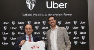 José Castro y el director de Uber en España, Juan Galiardo (SFC)