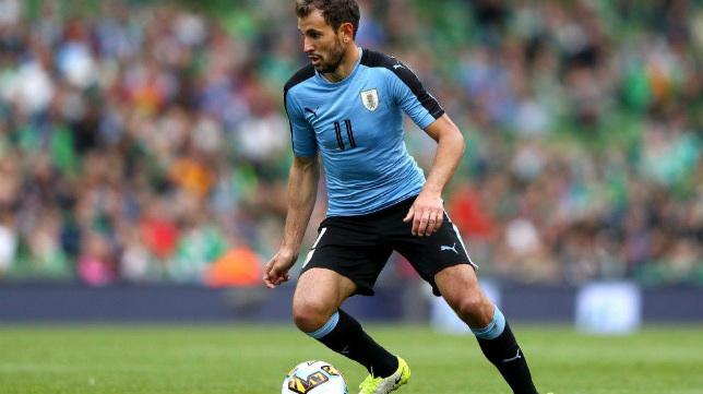 Stuani, en un partido con la selección de Uruguay