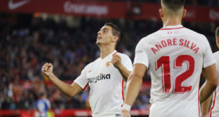 Ben Yedder y André Silva, en el Sevilla-Espanyol (Raú Doblado)