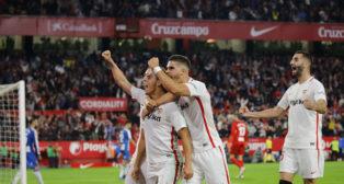 Ben Yedder, André Silva y Gonalons, en el Sevilla-Espanyol (Raúl Doblado)