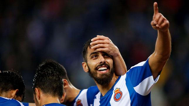 Borja Iglesias celebra un gol con el Espanyol (EFE)