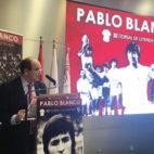 José Castro, presidente del Sevilla, en el homenaje a Pablo Blanco (SFC)