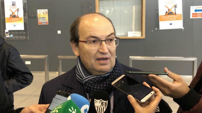 José Castro, en el aeropuerto de Lieja (Foto: SFC)