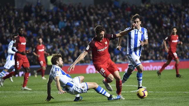 Franco Vázquez, en el Real Sociedad-Sevilla (Juan Manuel Serrano Arce)