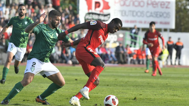 Quincy Promes en el partido de ida de los dieciseisavos de final de la Copa del Rey frente al Villanovense (Foto: SFC)