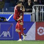 Ben Yedder y Sarabia, en el Alavés-Sevilla FC (Juan Manuel Serrano)