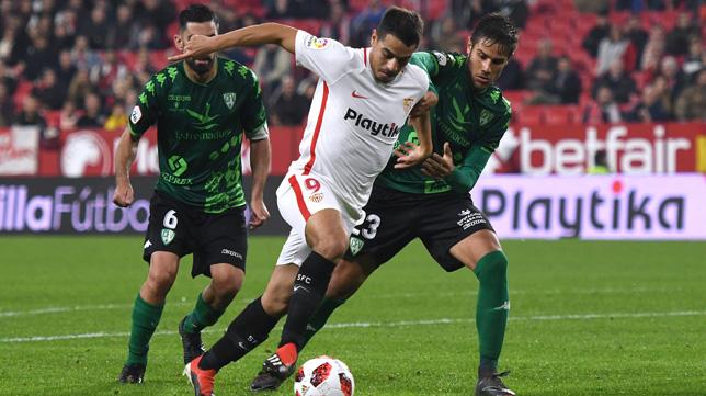 Ben Yedder, en un lance del Sevilla-Villanovense (J. J. Úbeda)