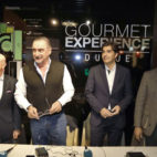 Lorenzo Serra Ferrer, Carlos Herrera, Ángel Haro y Rafael Almansa, en una tertulia de la Cadena Cope (J. M. Serrano)