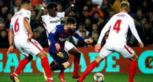 Messi, en el penalti que señaló el colegiado en la Copa