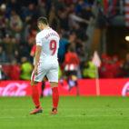 Ben Yedder, cabizbajo tras encajar el Sevilla un gol ante el Athletic