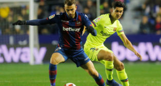 Chumi, en el Levante-Barcelona de la Copa del Rey (Reuters)