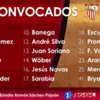 Wober se estrena en una convocatoria del Sevilla FC