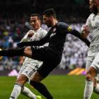 Escudero, en el lance del Real Madrid - Sevilla (Óscar del Pozo)