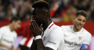 Gnagnon, en un lance del Sevilla-Athletic (Manuel Gómez)