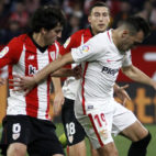 Munir, en un lance del Sevilla-Athletic (Manuel Gómez)