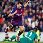 Munir, en un partido del Barça esta temporada