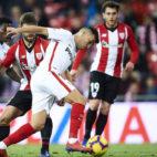 Munir, en un lance del Athletic-Sevilla (Serrano Arce)