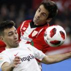 Munir, en una acción del Sevilla-Athletic (Manuel Gómez)