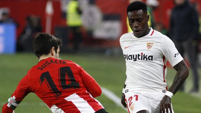 Promes en el Sevilla-Athletic (Manuel Gómez)