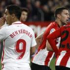 Ben Yedder, en un lance del Sevilla-Athletic (Manuel Gómez)