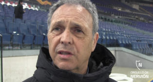 Joaquín Caparrós, en el estadio de la Lazio (F. M.)