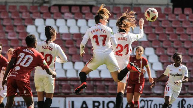 Lance del EDF Logroño-Sevilla Femenino (LaLiga)