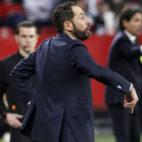 Pablo Machín, en el Sevilla-Lazio (Manu Gómez)