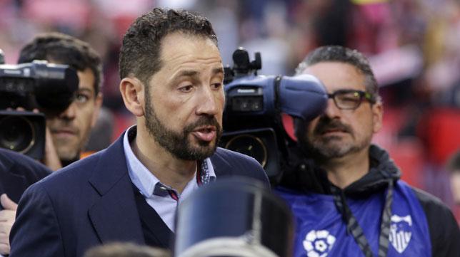 Pablo Machín, antes del Sevilla-Eibar (Manu Gómez)