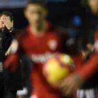 Pablo Machín se lamenta en un lance del Celta-Sevilla (AFP)