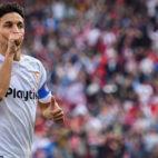 Navas celebra su gol en el Sevilla-Barcelona (EFE)