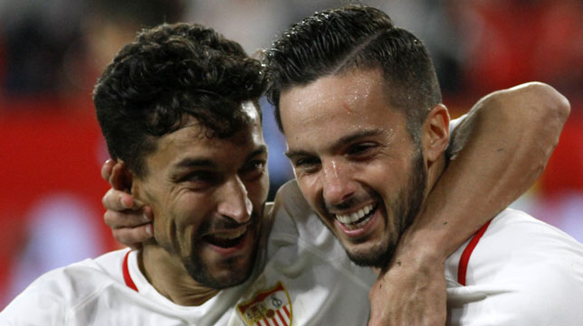 Jesús Navas y Sarabia, en el Sevilla-Lazio (Manu Gómez)