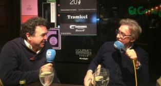 Ramón Somalo (i) junto al periodista Rafael Almansa