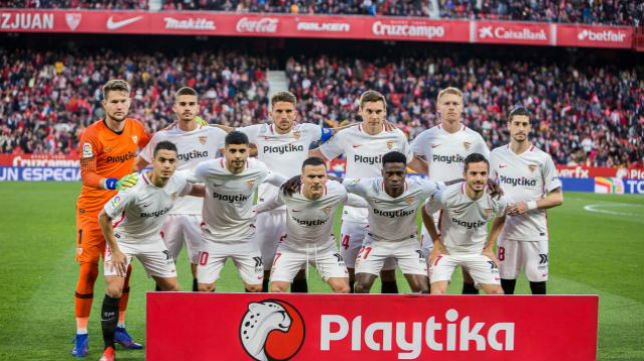 Once del Sevilla FC ante el Eibar. Foto: LaLiga