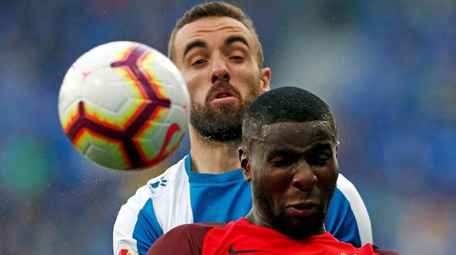 Amadou, en el Espanyol-Sevilla (EFE)