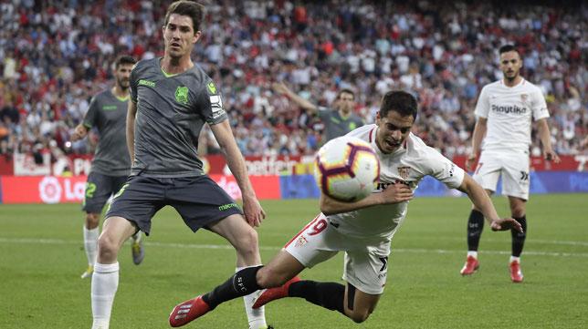 Ben Yedder, en el Sevilla-Real Sociedad (J. M. Serrano)