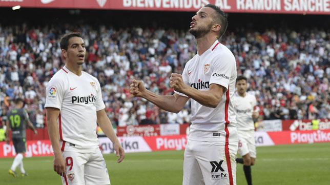 Ben Yedder y Sarabia, en el Sevilla-Real Sociedad (J. M. Serrano)