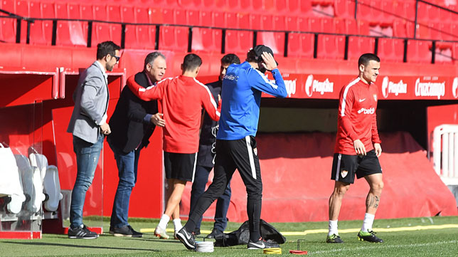 Caparrós, Marchena y Gallardo, en la sesión de este domingo (SFC)