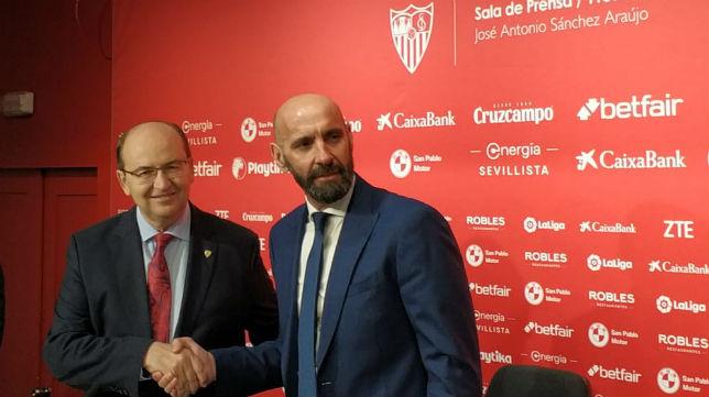 José Castro y Monchi, en la vuelta al Sevilla (P.P)