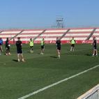El entrenamiento del Sevilla FC en la ciudad deportiva