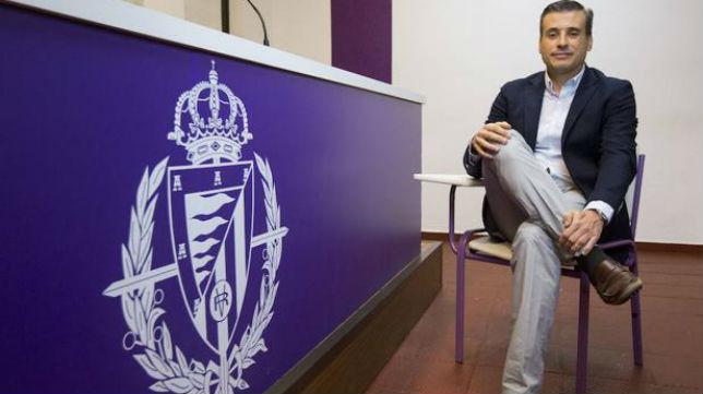 El director deportivo del Valladolid, Miguel Ángel Gómez