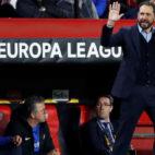 Machín, durante el Sevilla - Slavia de la Europa League (Foto: EFE)