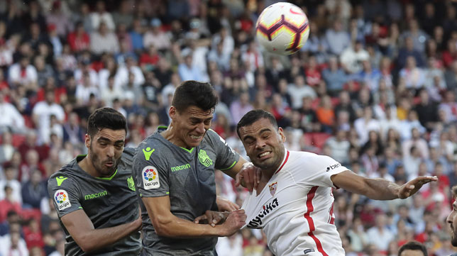 Mercado, en el Sevilla-Real Sociedad (J. M. Serrano)