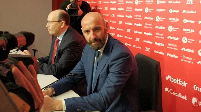 Monchi, durante la rueda de prensa (Foto: Pablo Pintinho)