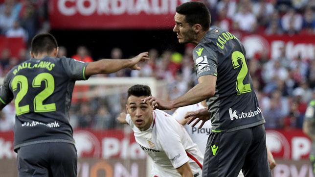Munir, en el Sevilla-Real Sociedad (J. M. Serrano)