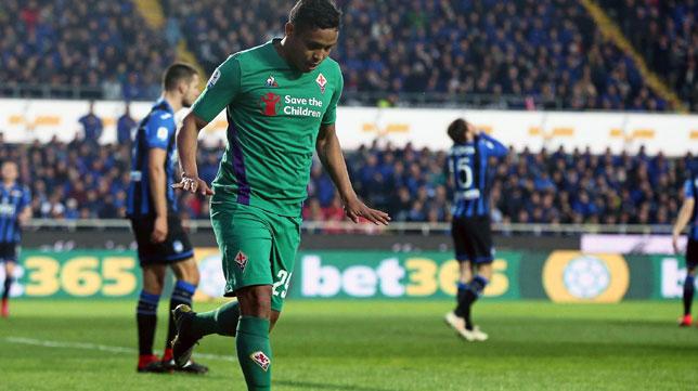 Muriel celebra su gol al Atalanta en la Serie A (EFE)